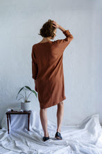 Load image into Gallery viewer, Long Sleeve Sweatshirt Dress - Copper