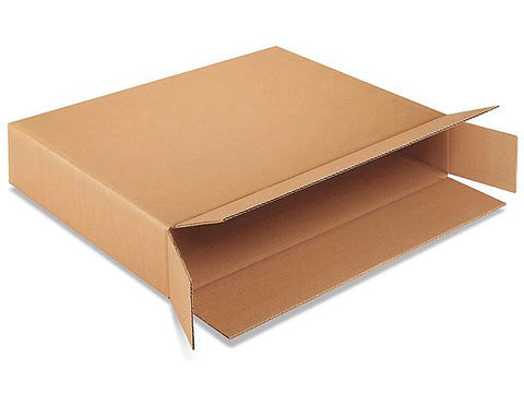 Side Loading Corrugated Cardboard Shipping Boxes (Pack of 4)