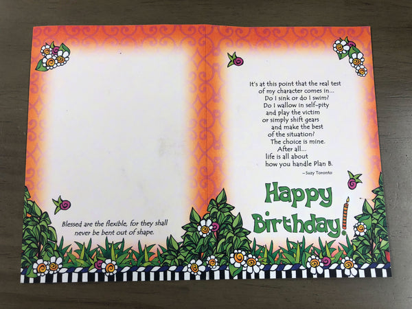 Happy Birthday Card - Life Is All About How You Handle Plan B