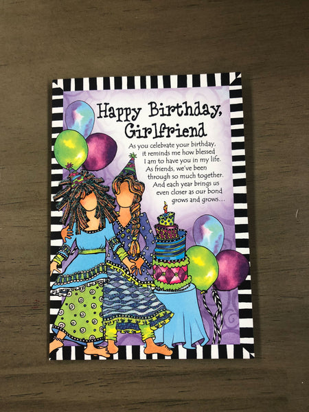 Happy Birthday Card - Girl Friend