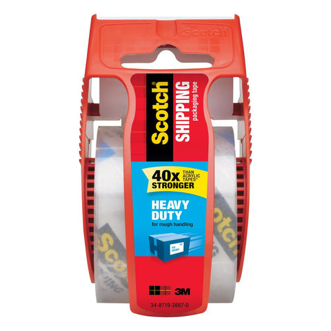 Scotch 1.88 in. x 700 in. Heavy Duty Shipping Packaging Tape with Dispenser