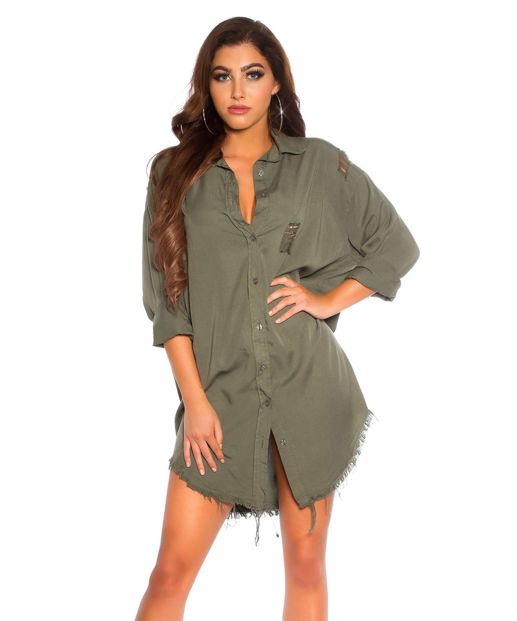 BOYFRIEND SHIRT GREEN