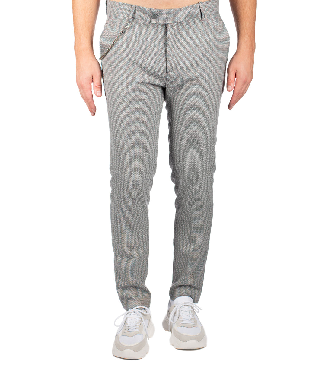 CASUAL PANTS LIGHT GREY - Vaarora