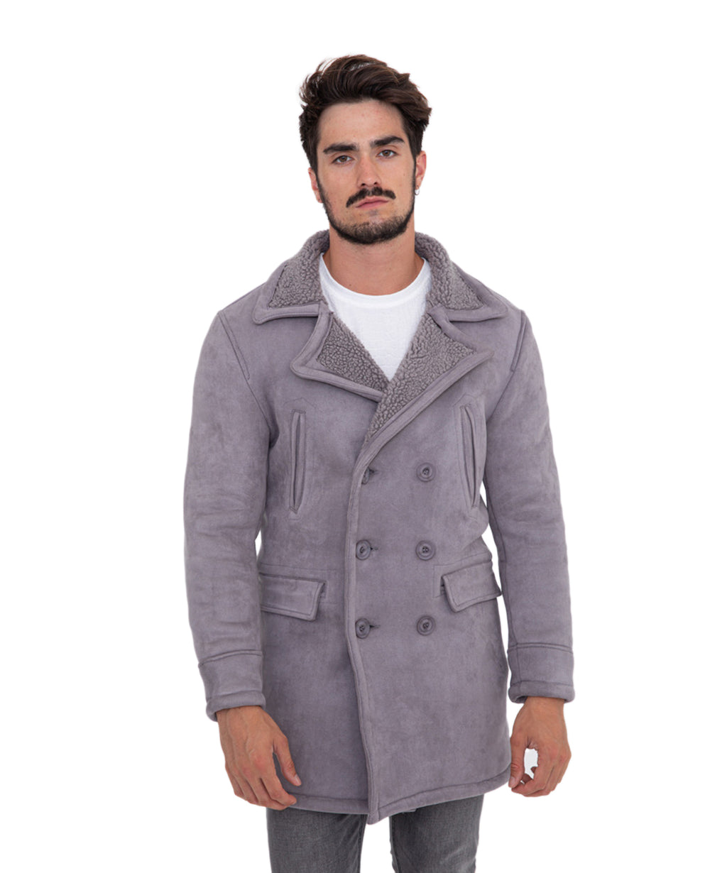 COAT SILVIO GREY - Vaarora