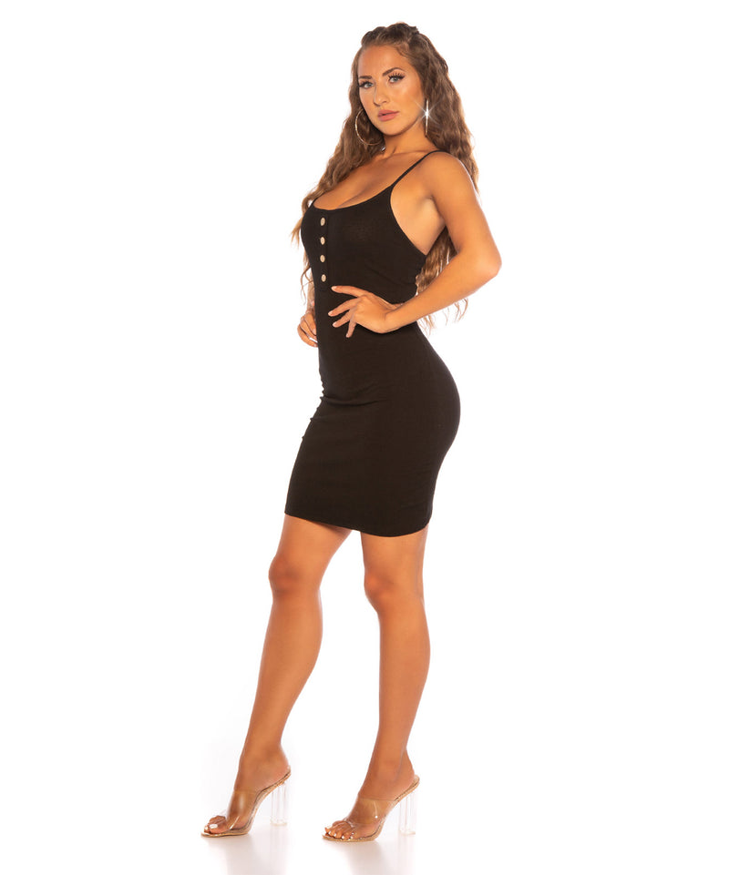 MINI DRESS BLACK - Vaarora