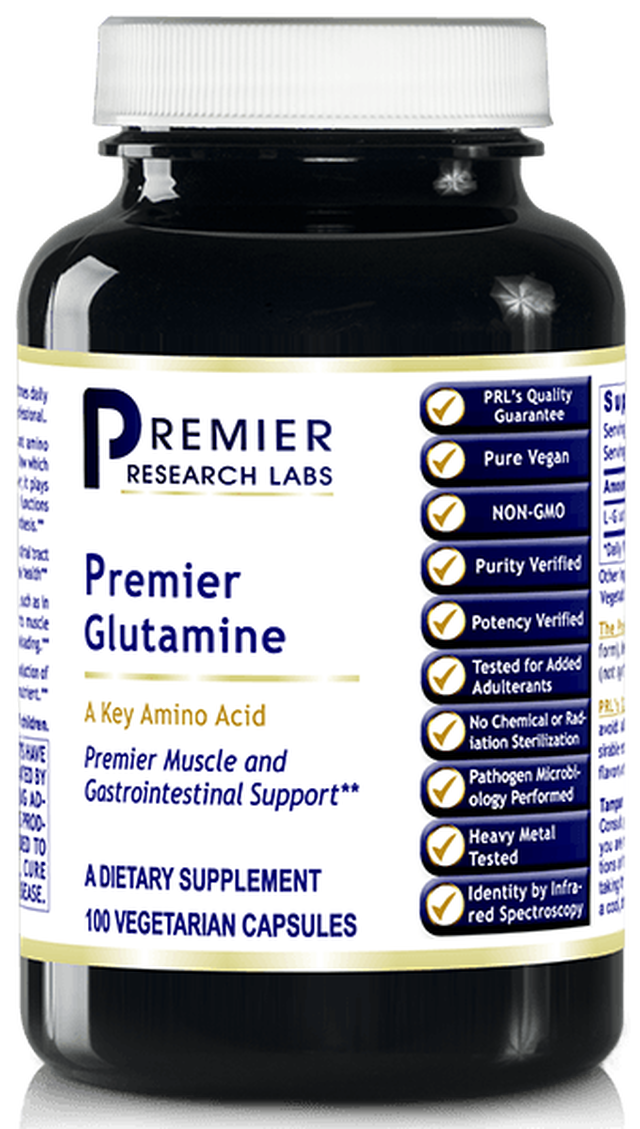 Glutamine - A Key Amino Acid (Premier Muscle & Gastrointestinal Tract Support) 100 Vcaps