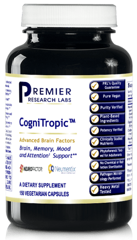 CogniTropic (Premier Attention, Focus, Memory, Mood, Restful Sleep) 150 Vcaps
