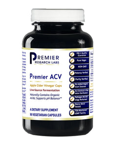 ACV (Premier Apple Cider Vinegar - pH Balance Support) 90 Vcaps