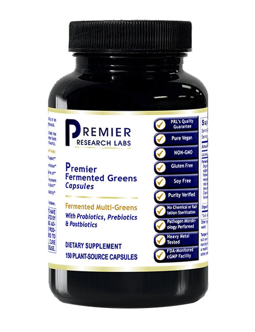 Fermented Greens (NEW! Fermented Multi-Greens with Probiotics, Prebiotics & Postbiotics) 150 Vcaps