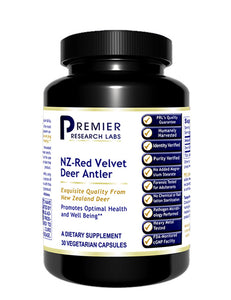 NZ-Red Velvet Deer Antler (Premier Health & Well Being Support) 30 Vcaps