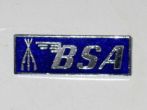 BSA Piled Arms & Stacked Rifles lapel pin Blue made in England