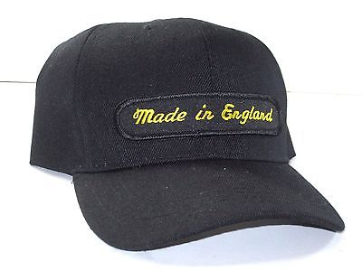Made in England Hat baseball cap motorcycle patch black English motorcycle logo