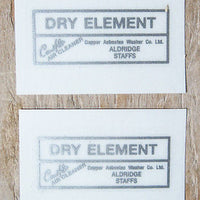 Dry Element Peel and Sticker Decal Aldridge Staffs silver