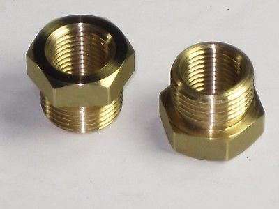 Adapters for fuel gas valve to tank Triumph Norton BSA threaded brass reducer