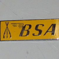 BSA Piled Arms & Stacked Rifles yellow lapel pin made in England