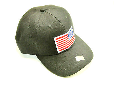 Reverse American Flag Hat baseball cap motorcycle patch black ballcap backward