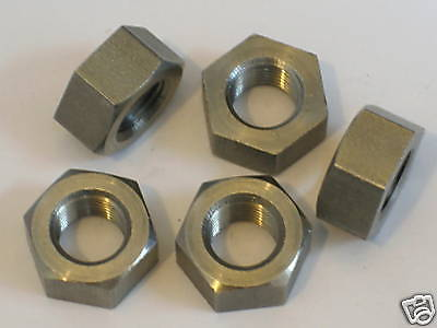 5 nuts CEI 1/4 x 26 tpi fine Stainless Steel nut Triumph Norton BSA