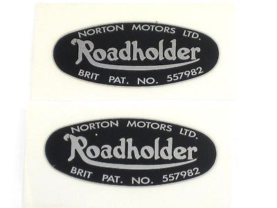 2 Norton Roadholder Fork Decal transfer DRY FIX Dominator NM25117 06-7908