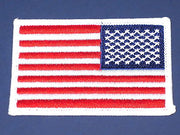 United States of America Flag Reverse embroidered Patch American Red White Blue