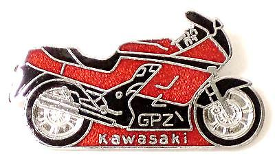 Lapel Pin Ninja Kawasaki GPZ1000RX motorcycle chrome enamel badge GPZ UK MADE