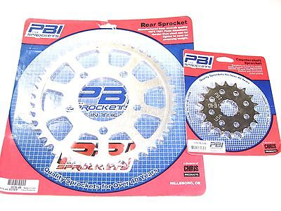 PBI Triumph front rear sprocket set 1991 to 06 Adventurer Daytona Legend Tiger