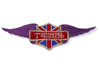 Triumph purple wings patch jacket badge Bonneville T120 TR6 TR7 T100