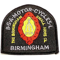British Stacked Arms Patch rifles embroidered BSA motorcycles Made in England