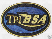 TRI BSA vintage Motorcycles patch badge Triumph TRIBSA Cafe Racer