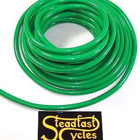 "3' foot piece of 3/16"" ID 100% green polyurethane fuel line hose tube motorcycle"