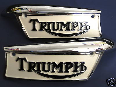 Triumph tank badges painted 1969 to 1979 reproduction gas tank 82-9700T 82-9700