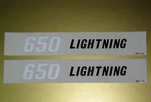 BSA Lightning 650 motorcycle vinyl decal peel and stick vintage motorcycle