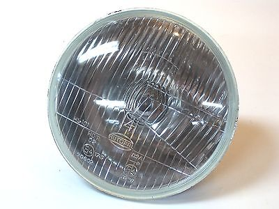"7"" headlight glass with H4 halogen bulb 12 volt 35/35 Watt motorcycle head lamp"