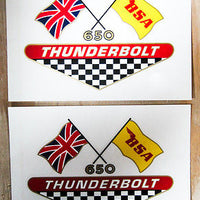 BSA Thurnderbolt 650 Red Gold White Black Yellow Blue Decals side cover