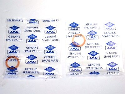 622/151 washer gasket Genuine Amal bowl plug set of 2 930 928 932 626 627