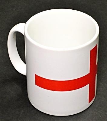 England Flag Mug 10oz coffee cup ceramic motorcycle St. George's Cross UK Made
