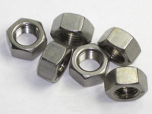 6 each Triumph nut 14-0404 7/16-20 UNF Stainless Steel