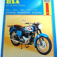 BSA A7 & A10 500 650 twins Haynes maintenance workshop manual 1947 - 62 NEW