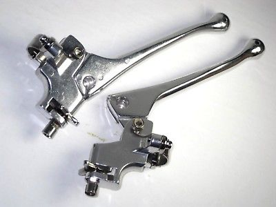 Doherty racing style alloy lever set Cafe Racer Domi Gold Star Triumph BSA
