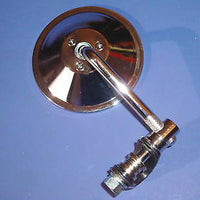 "Clamp on mirror 4"" round 3.5 stem motorcycle 7/8"" handlebars"