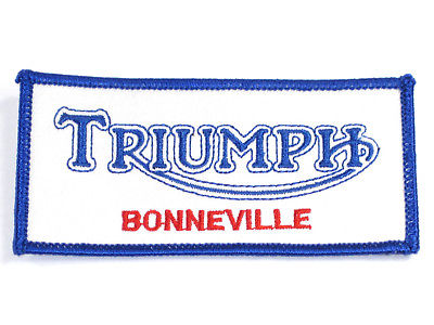 Triumph Bonneville rectangle patch jacket badge Bonneville T120 Made in England
