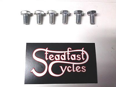 "6 each 1/4""x26x1/2"" CEI Bolt Triumph BSA Matchless BSC Cycle Bolts 1959-1968"