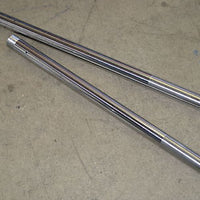 "Fork tubes 650 500 Triumph 1963 to 1967  33mm x 22"" UK stanchion tube set"