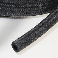 "3/16"" fuel oil line hose tubing cloth braided herringbone outer sold by the foot"