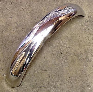 Aluminum front fender 1965 66 67 Triumph Bonneville TR6 T120 cut off returned
