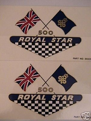 BSA Royal Star side cover vinyl decals motorcycle