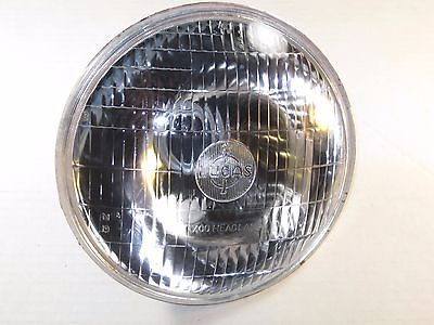 "LUCAS 700 headlight glass lens & reflector 7"" Triumph Norton with pilot BSA"
