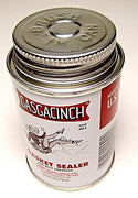 Gasgacinch Gasket sealer sealant Leak proofing holds gasket in place 4 oz