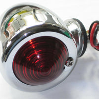 12v Bullet light dual fillament red lens brake light motorcycle * !