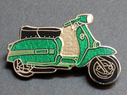 Scooter lapel pin Lambretta badge green Mod Ska Vespa