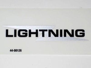 BSA Lightning sidecover decal silver and black bolt 650 vinyl